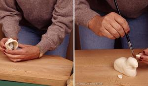 KROK IV - Formowanie baranka z masy solnej