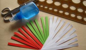 Krok I - Wycinanie papierowych pasków