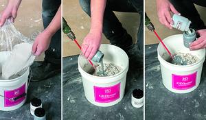KROK V- Przygotowanie masy cementowo-polimerowej